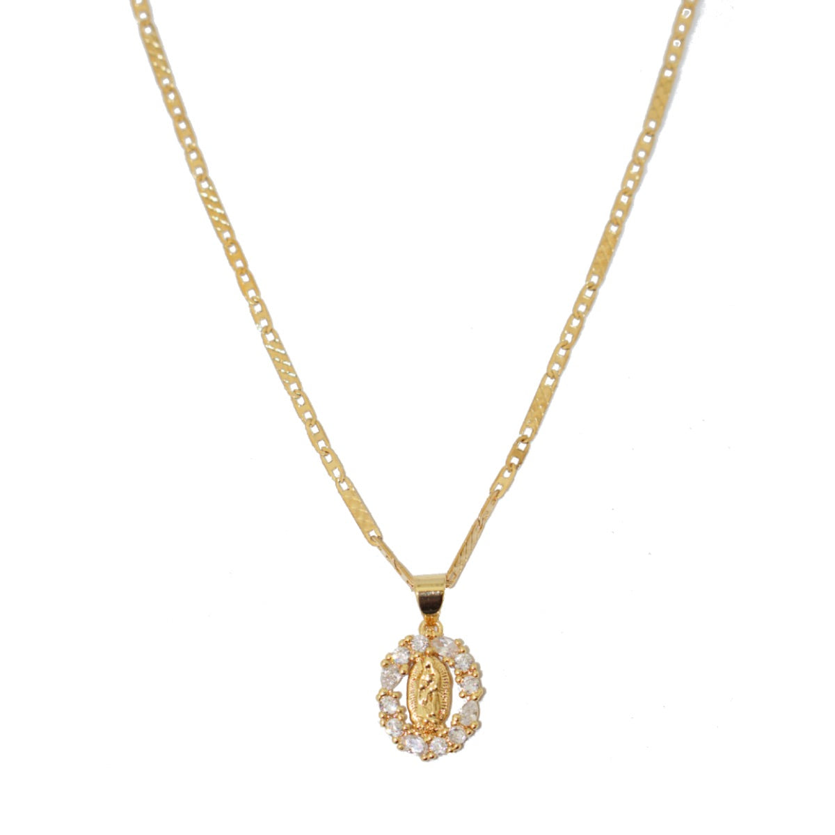 Mini CZ Virgin Mary necklace