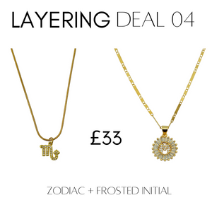 Layering deal  #4 Zodiac + Frosted Initial