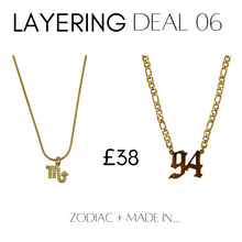 Load image into Gallery viewer, Layering deal #6 Zodiac + Made In__