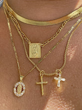 Load image into Gallery viewer, Mini CZ Virgin Mary necklace