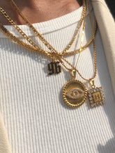 Load image into Gallery viewer, Square cz initial necklace