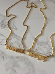 Customized Any Language name necklace