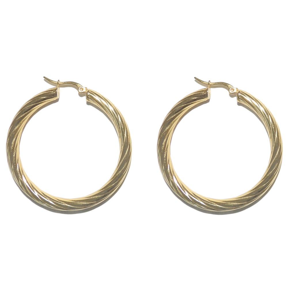 Thick Textured hoops
