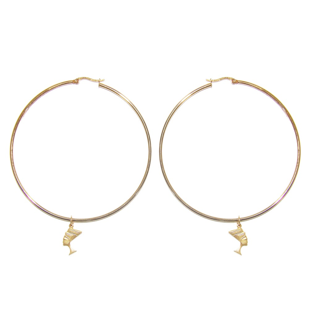 Queen Nefertiti Hoops