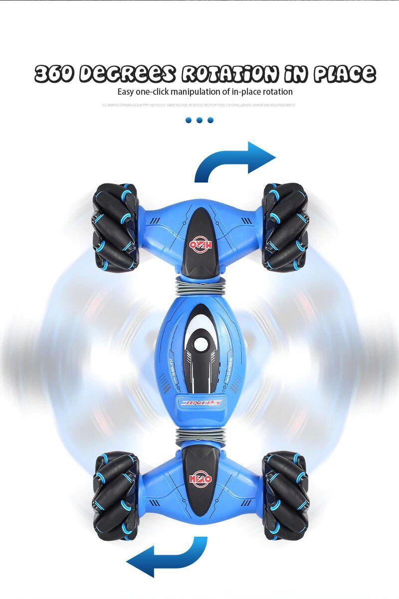 Remote Control Stunt Car, 2.4G Gesture Sensing Twisting Vehicle Drift Car Toy with Four-Wheel Drive, 45 Minutes Standby, Christmas Stunt RC Car Gifts for Any Terrain - Gesture Sensing - MyGiftsMate