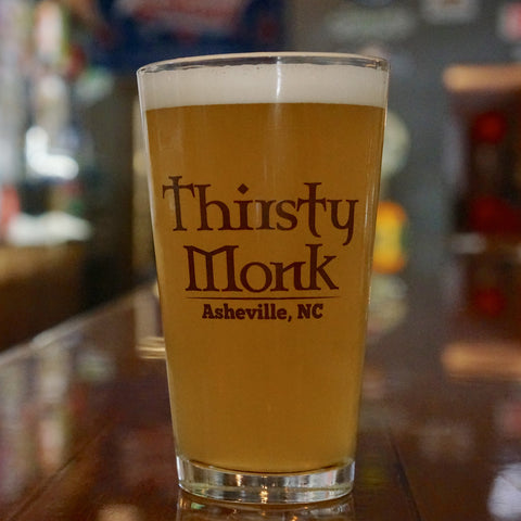 Thirsty Monk Pint Glass