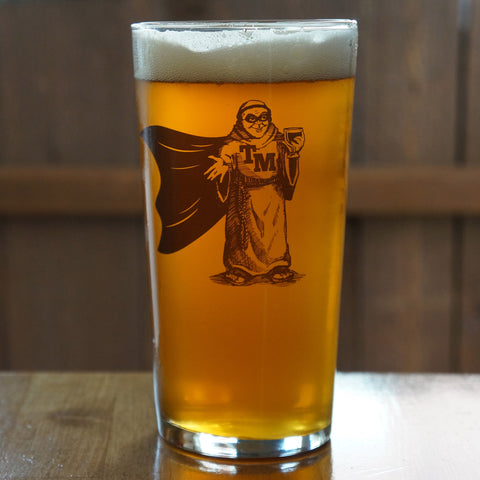 "Thirsty Monk ""Super Pint"" Pint Glass"