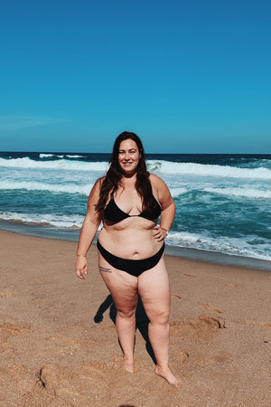 Plus size swimwear for a big belly