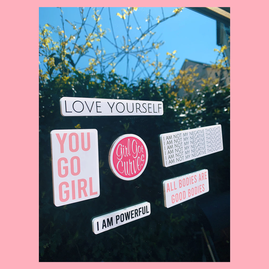 You Are | Static Cling Mirror Sticker