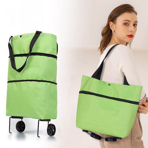 Supermarket Portable Folding Cart Shopping Bag