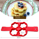 Silicone Non Stick Flip cooker Egg Ring Mold tools for cake
