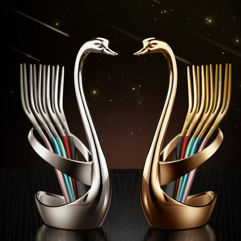 Swan holder  fork set