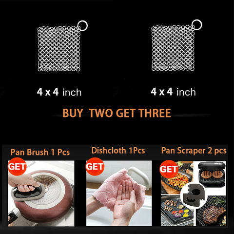 Ring stainless steel kitchen cloth