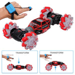 4WD RC Stunt Car Watch Gesture Sensor Control Deformable Electric RC Drift Transformer Car Toys for Kid