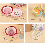 Baby Feeding Bowl Plate Dishes Fork Spoon Cup 5Pcs/Set