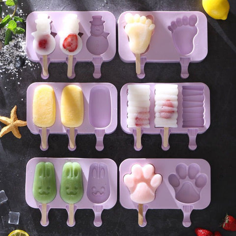 DIY baking mold cute cartoon homemade ice cream mold