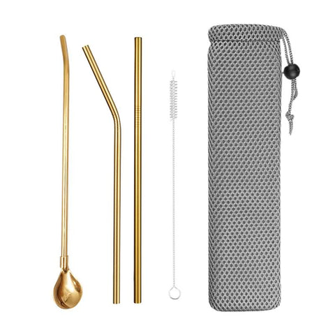 Reusable Straw With  Stirrers FilterSpoon For Cocktail Tea