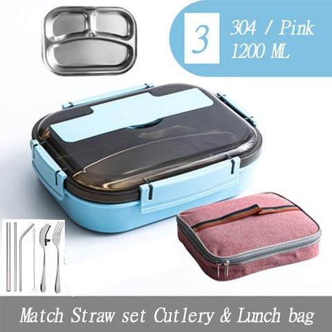 Lunch Box Set With Cutlery Set & Bag