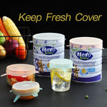 6 Pcs/ Set keep food fresh Silicone Cover