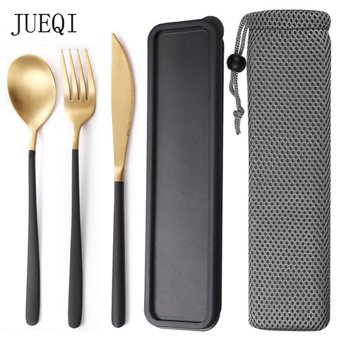 Travel cutlery set with box