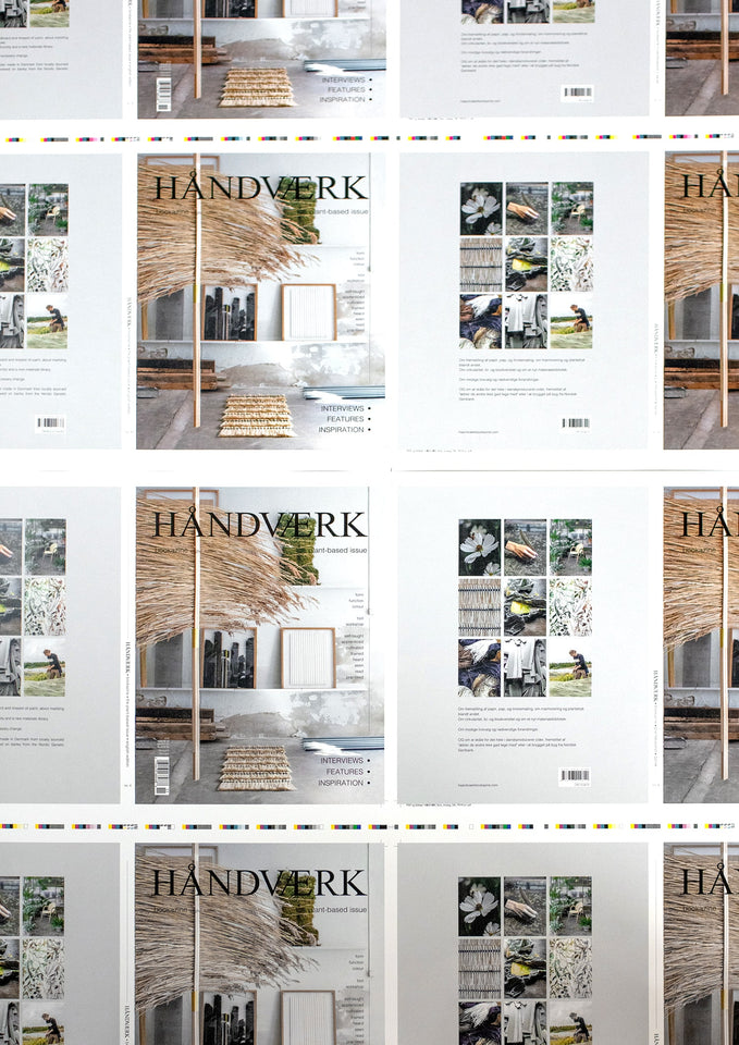 HÅNDVÆRK bookazine is printed on FSC®-certified paper. This means that the paper comes from sustainable forestry, where plants and wildlife are protected, and where the forestry workers have access to education and safety equipment and receive proper pay.