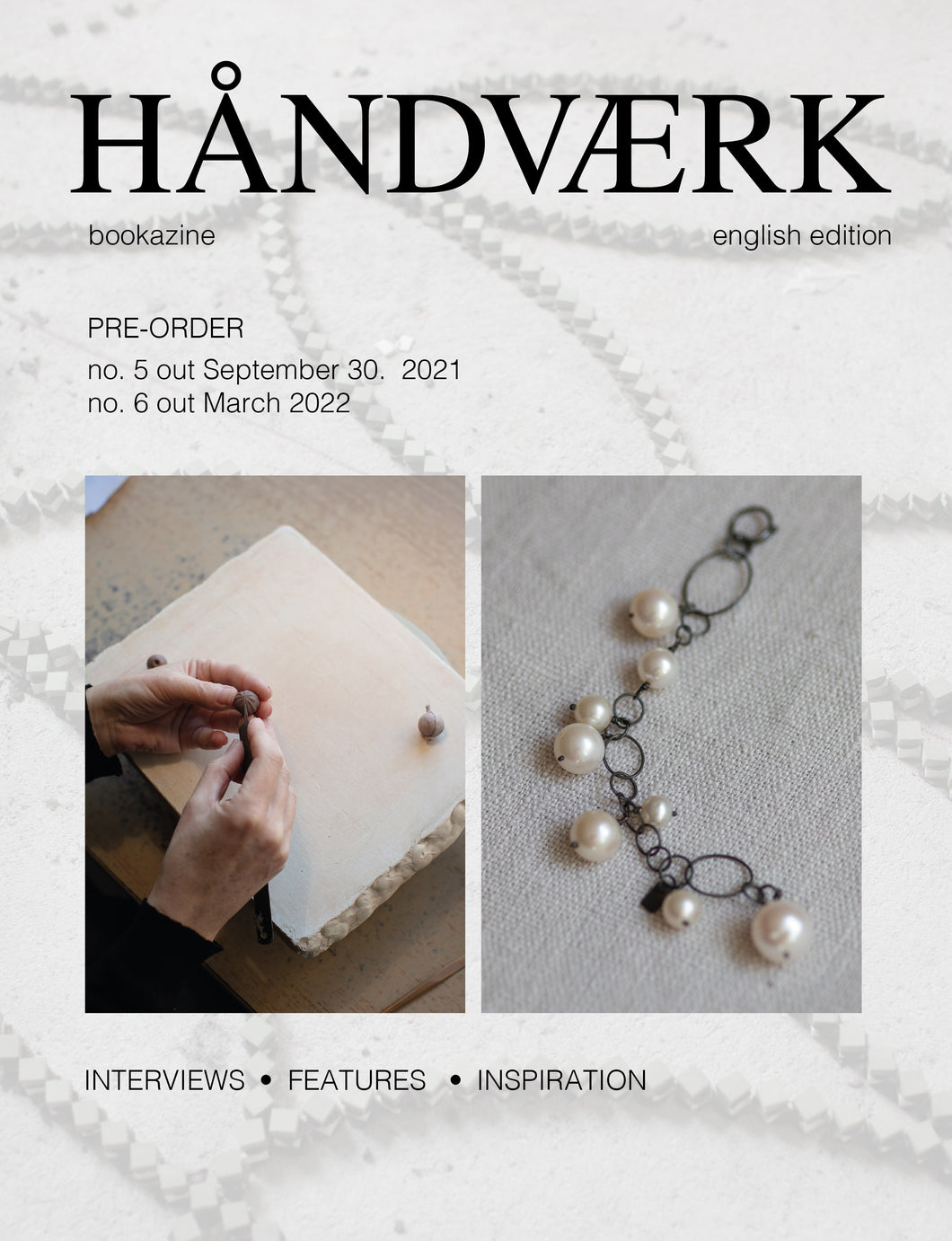 Pre-order HÅNDVÆRK bookazine no.5 & no.6 english tekst