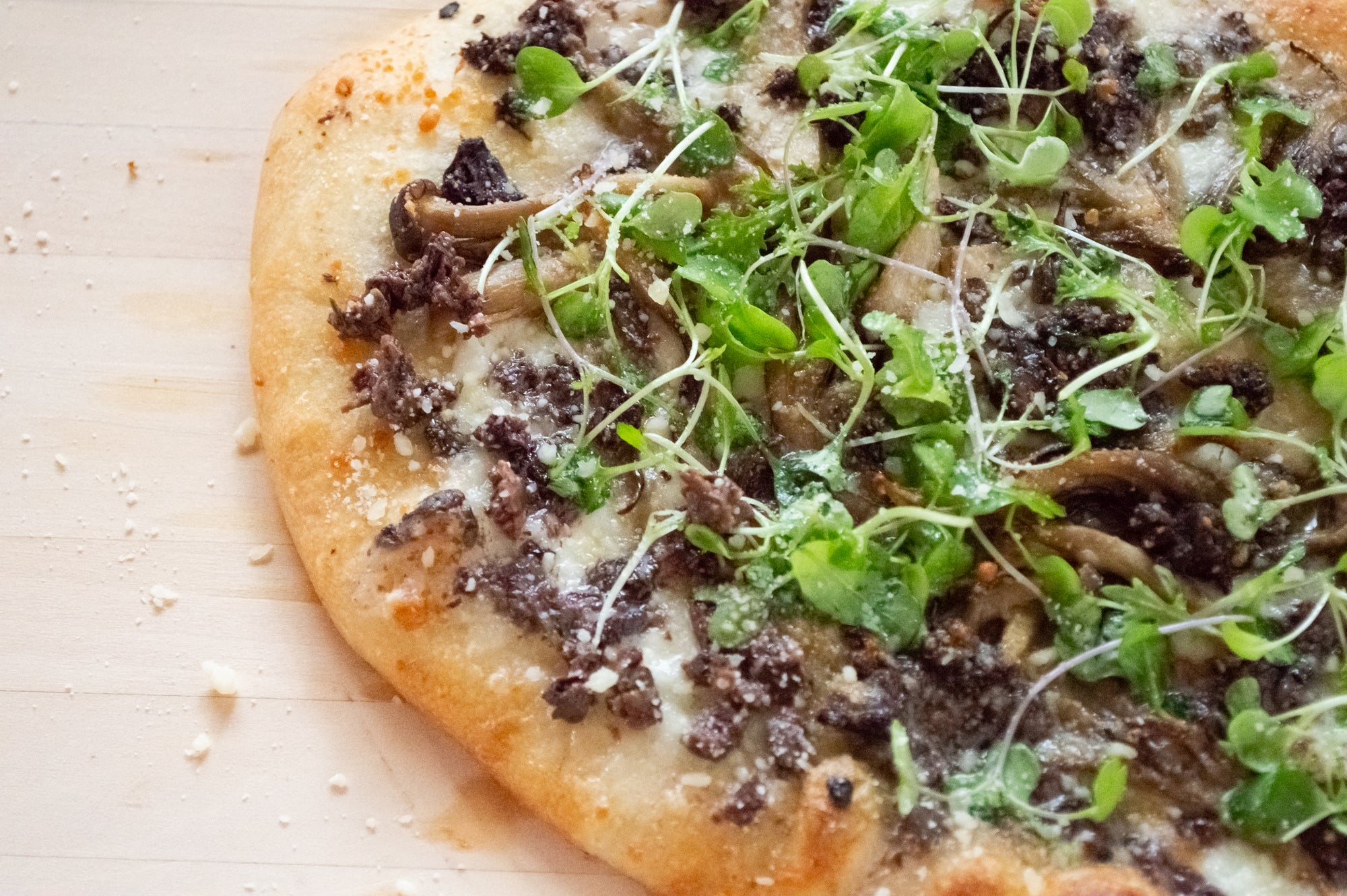 Wild Mushroom and Black Olive Tapenade Pizza