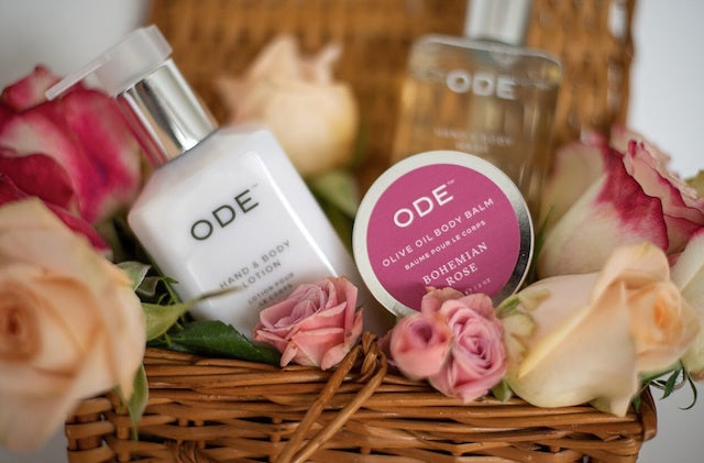 Fresh gift ideas for moms who love flowers from Ode Natural beauty of McEvoy Ranch