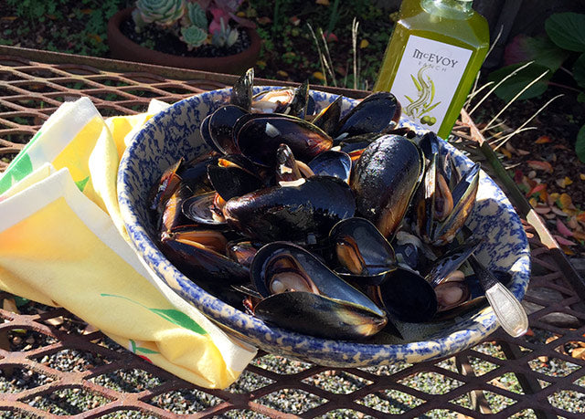 Mussels with Olio Nuovo