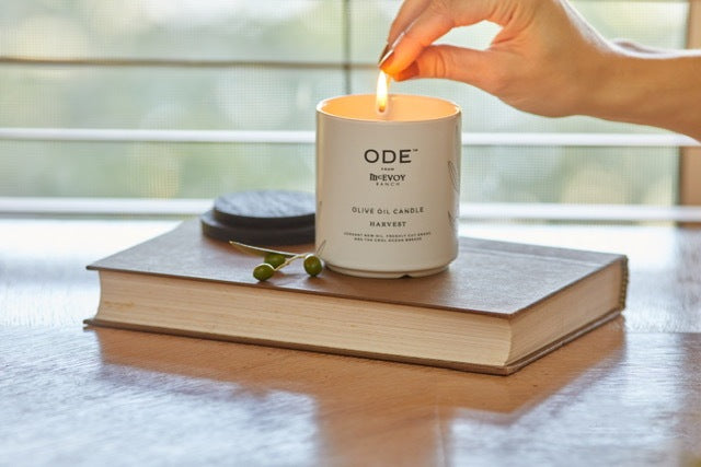 Ease into Fall with ODE's New Olive Oil Candle and Bath Salts Blend