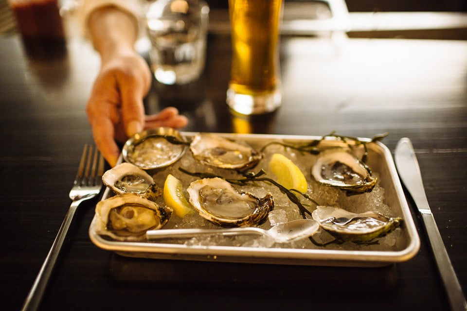 Fresh oysters on the half-shell. Photo credit - The Shuckery, Petaluma