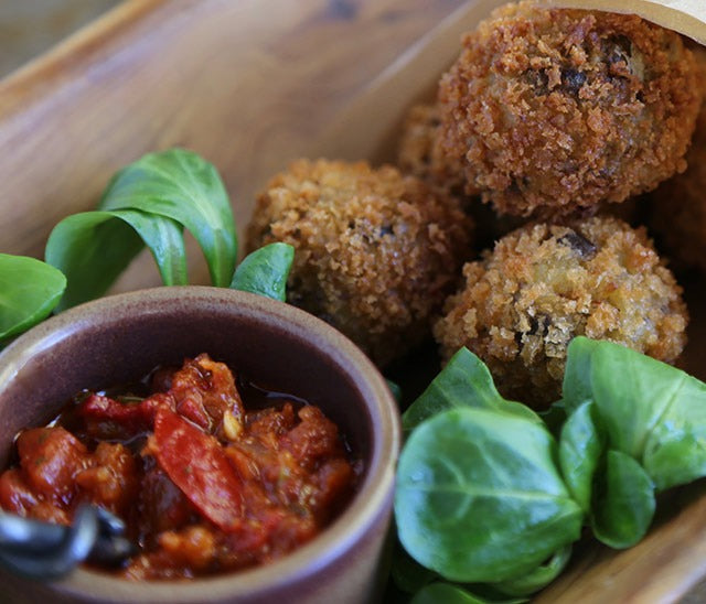 Arancini with McEvoy Ranch Olive