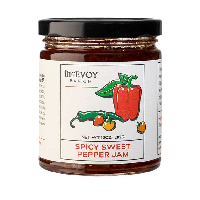 jar of sweet pepper jam