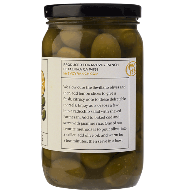 jar of citrus olives