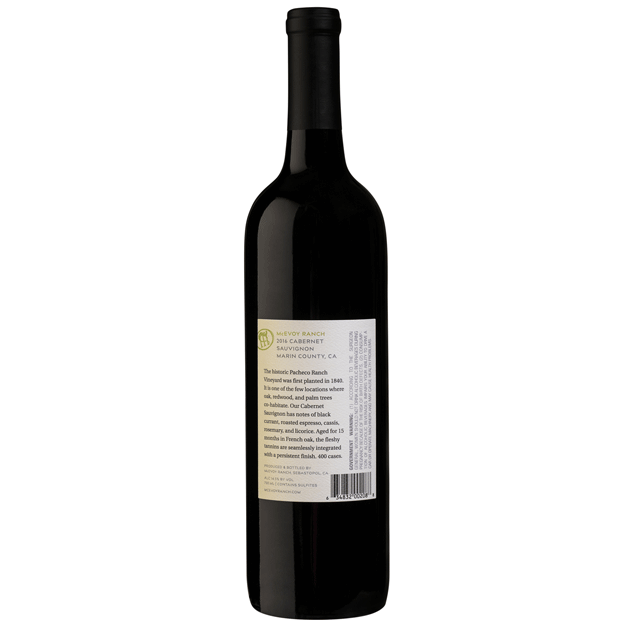 bottle of 2016 good cabernet sauvignon