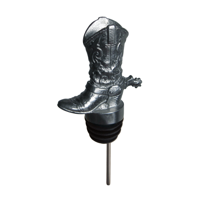 silver cowboy pourer with rubber fitting