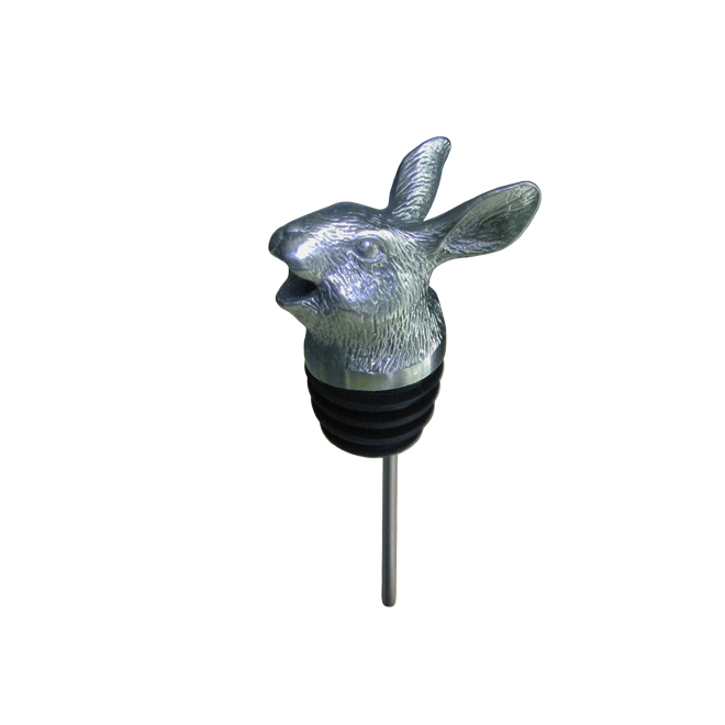 silver rabbit pourer with rubber fitting
