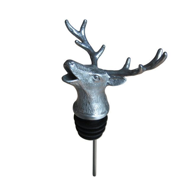 silver stag pourer with rubber fitting