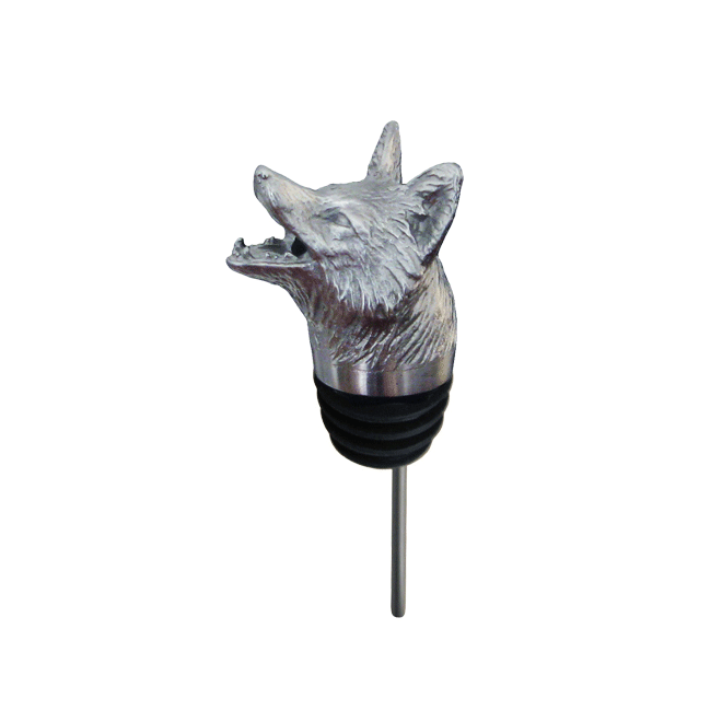 silver fox pourer with rubber fitting