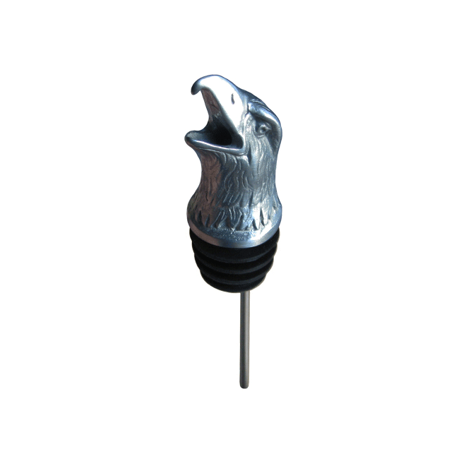 silver eagle pourer with rubber fitting