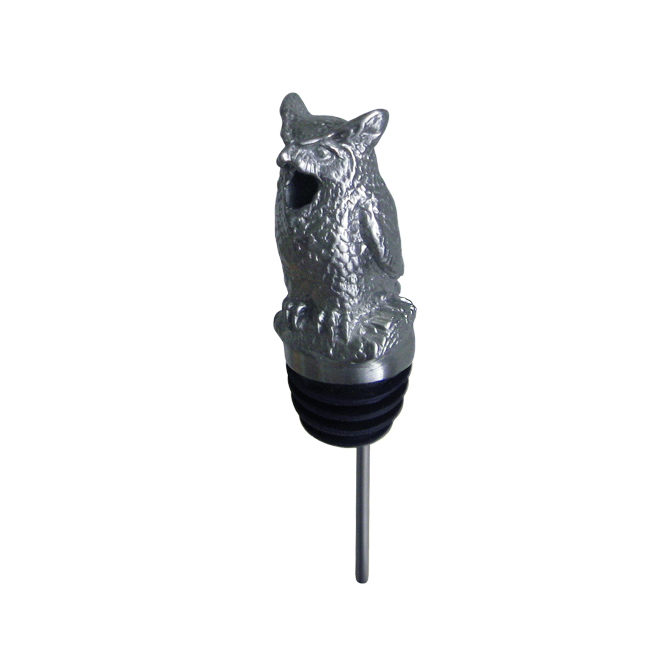 silver owl pourer with rubber fitting