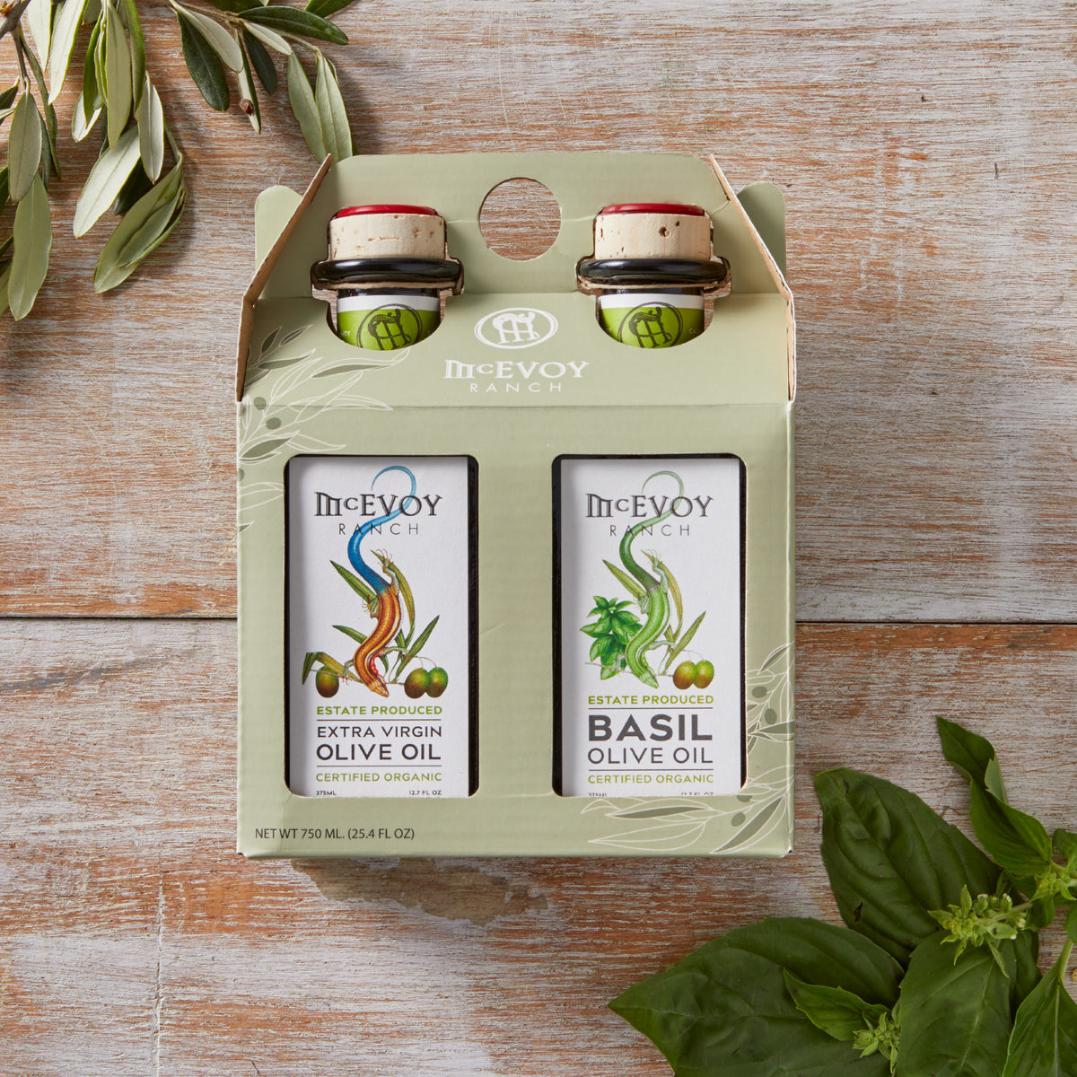 Traditional Blend Two Pack Traditional Blend Extra Virgin Olive Oil/Basil Olive Oil