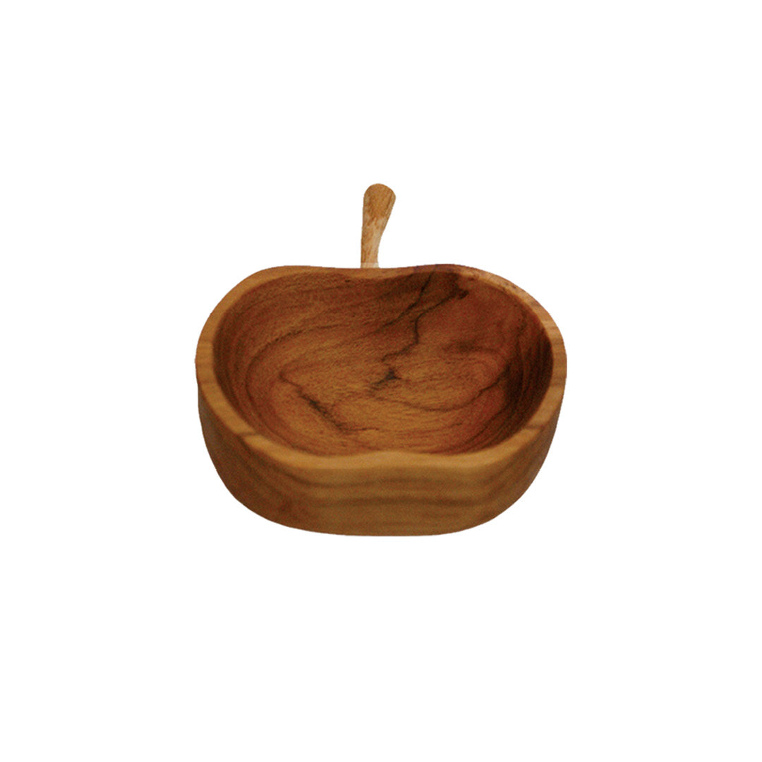 Teak Apple Bowl