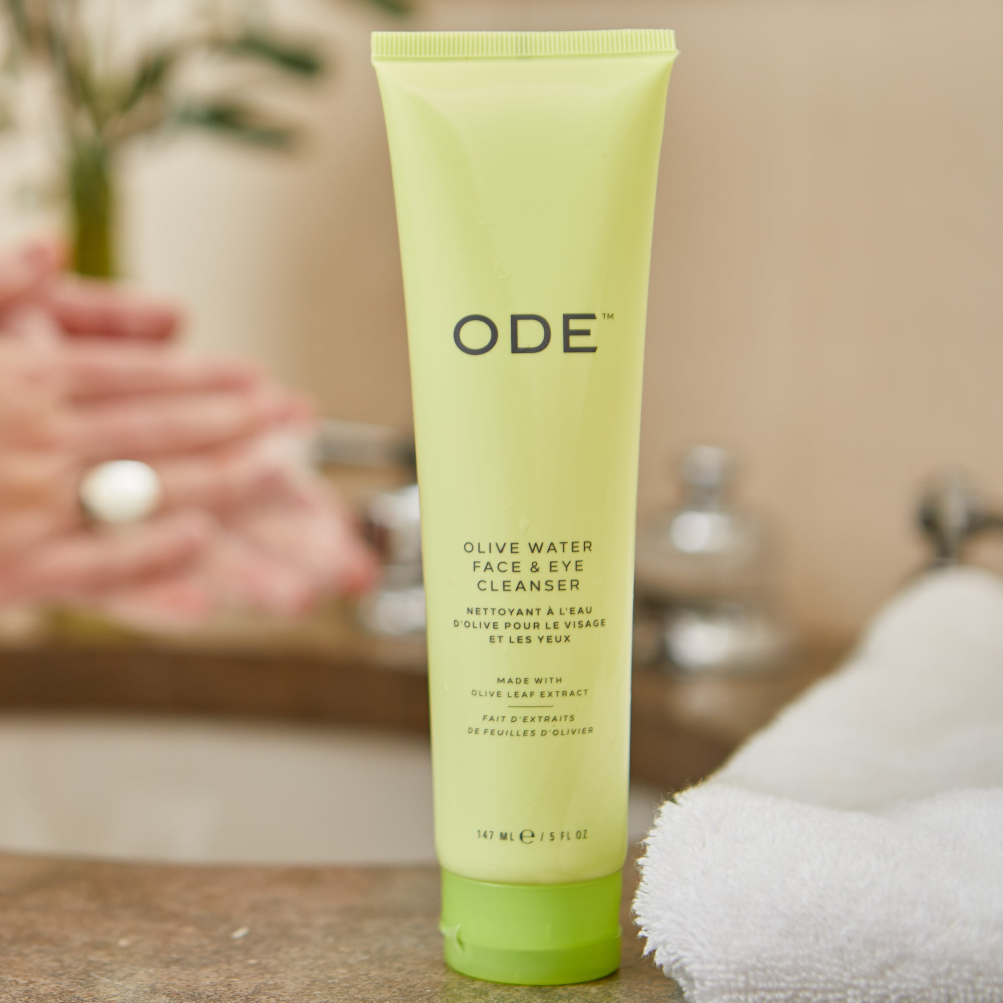 olive oil eye makeup remover in a tube