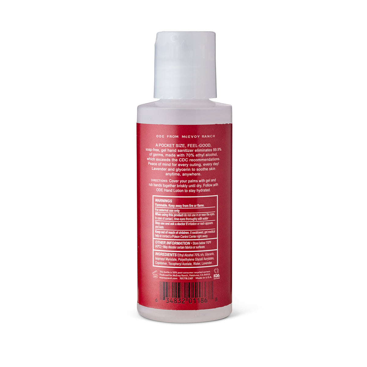 Red Sanitizer Gel 2 OZ