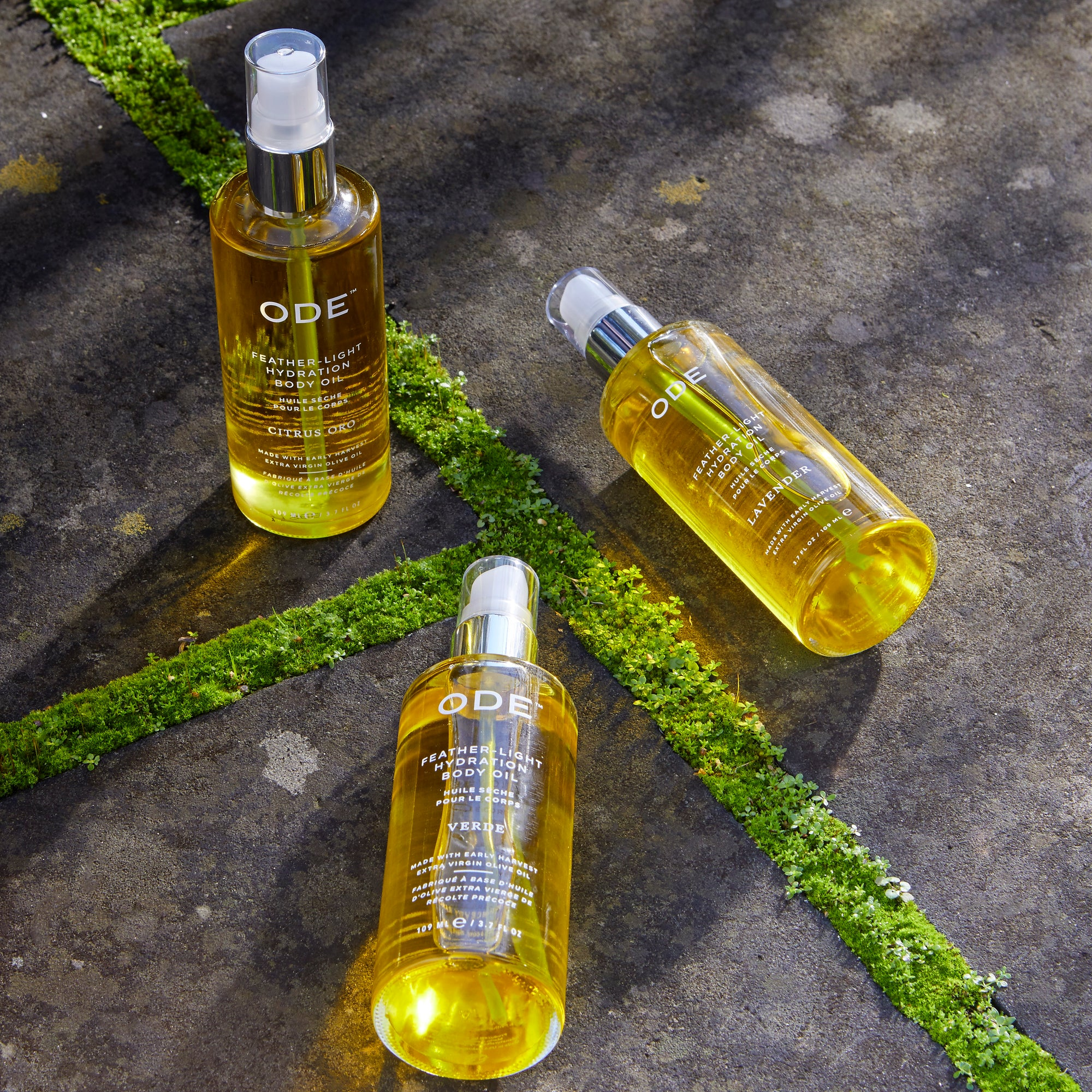 olive body oil verde in a bottle