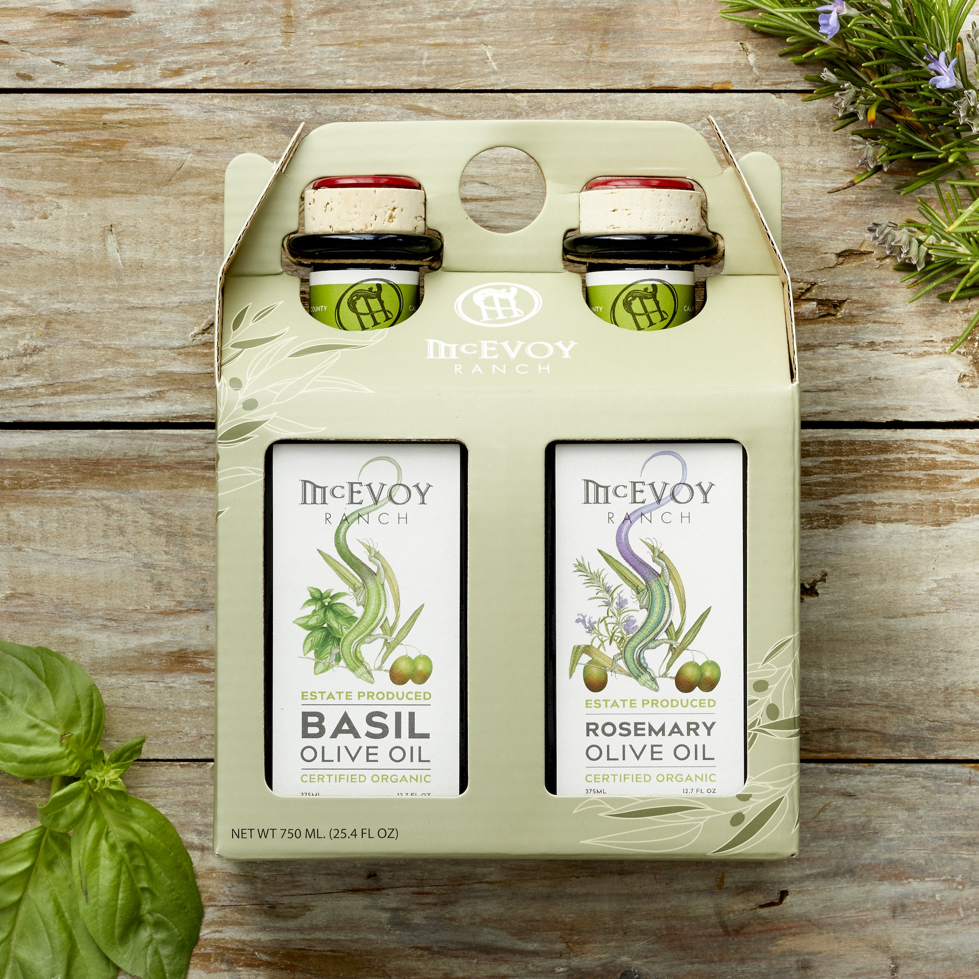 Gift Set Olive Oil Rosemary/Basil 2019H 375ML