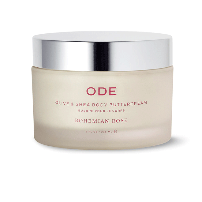 olive and shea body buttercream bohemian rose in a jar