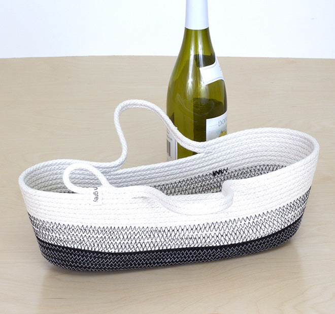 woven basket bottle carrier