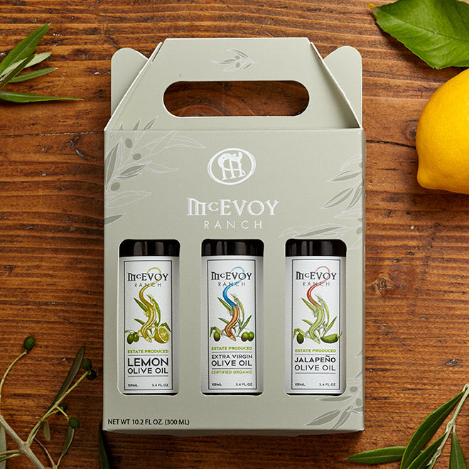 Olive Oil Gift Set - 100ml, Lemon/EVOO/Jalapeno